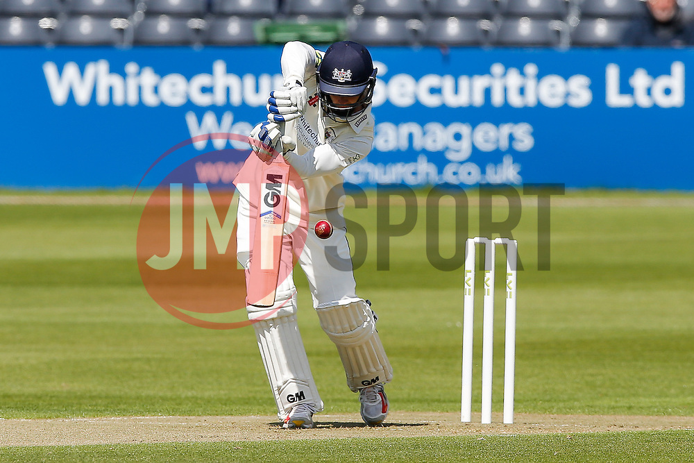 Chris Dent of Gloucestershire plays a shot - Photo mandatory by-line: Rogan Thomson/JMP - 07966 386802 - 18/05/2015 - SPORT - CRICKET - Bristol, England - Bristol County Ground - Gloucestershire v Kent - Day 1 - LV= County Championship Division Two.
