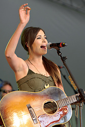 Image ©Licensed to i-Images Picture Agency. 05/07/2014. Oxford, United Kingdom. Cornbury Festival. Kacey Musgraves performs at the Cornbury Festival. Picture by  i-Images
