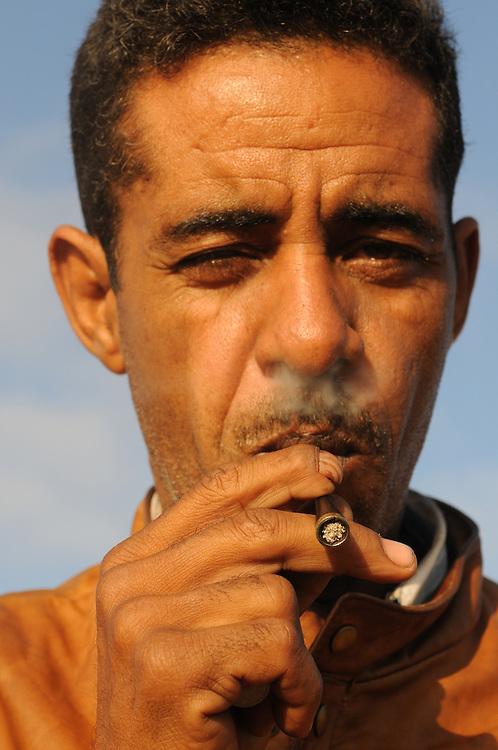 Portrait of a mauretanian man, Nouakchott, Western Africa, Mauretania, Africa