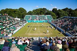 LIVERPOOL, ENGLAND - Thursday, June 12, 2008: The legends in action during the Legends' Doubles on Day Three of the Tradition-ICAP Liverpool International Tennis Tournament at Calderstones Park. (Photo by David Rawcliffe/Propaganda)