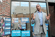 17 August- New York, NY:  New York State Assemblyman Walter Mosley  attends the endorsement announcement by U.S.Congressman Hakeem Jeffries of Laurie Cumbo for City Council District 35 held at the Laurie Cumbo Campaign Headquarters in Prospect Hieghts section of Brooklyn, NY on August 17, 2013 in New York City. © Terrence Jennings