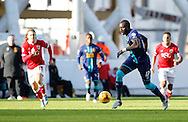 Luke Freeman of Bristol City and Mohamed Diame of Hull City during the Sky Bet Championship match at Ashton Gate, Bristol<br /> Picture by Mike Griffiths/Focus Images Ltd +44 7766 223933<br /> 21/11/2015