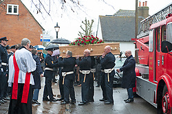 ©Licensed to London News Pictures 30/01/2020<br /> Orpington, UK. The Funeral of thirty three year old father-of-four and firefighter Anthony Knott at Saint Giles the Abbot Church, Orpington, Kent.  His body was found in the water at Denton Island, Sussex three weeks after he went missing on a night out in Lewes, East Sussex in December 2019. Photo credit: Grant Falvey/LNP