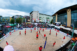View on the court during VIP game at Zavarovalnica Triglav Beach Volley Open as tournament for Slovenian national championship on July 30, 2011, in Kranj, Slovenia. (Photo by Matic Klansek Velej / Sportida)