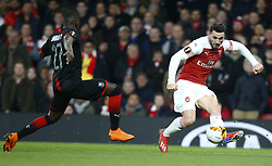 March 14, 2019 - London, England, United Kingdom - Shkodran Mustafi of Arsenal.during Europa League Round of 16 2nd Leg  between Arsenal and Rennes at Emirates stadium , London, England on 14 Mar 2019. (Credit Image: © Action Foto Sport/NurPhoto via ZUMA Press)
