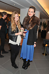 Left to right, KATIE READMAN and BRYONY DANIELS at the launch of famed American fitness club 'Equinox' 99 High Street Kensington, London on 23rd October 2012.