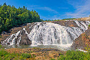 The Magpie River flows over scenic High Falls (also known as Magpie High Falls)<br />