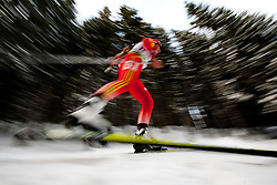 Yinghui Xu of China during the Mixed 2x6 + 2x7,5km relay of the e.on IBU Biathlon World Cup on Saturday, December 19, 2010 in Pokljuka, Slovenia. The fourth e.on IBU World Cup stage is taking place in Rudno polje - Pokljuka, Slovenia until Sunday December 19, 2010. (Photo By Vid Ponikvar / Sportida.com)