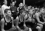 PHOTOGRAPH BY HOWARD BARLOW.SUPPORTERS OF young Bolton Boxer AMIR KHAN,.watch the Olympic fight last night at BOLTON Lads & Girls Club