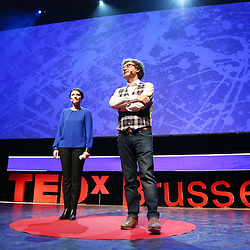 Session IV - Health - 01 December 2014<br /> <br /> Walter De Brouwer , Samia De Brouwer <br /> <br /> TEDX BRUSSELS 2014 - The Territory and the MAP -  Belgium - Brussels - October 2014 &copy; TEDx Brussels/Scorpix