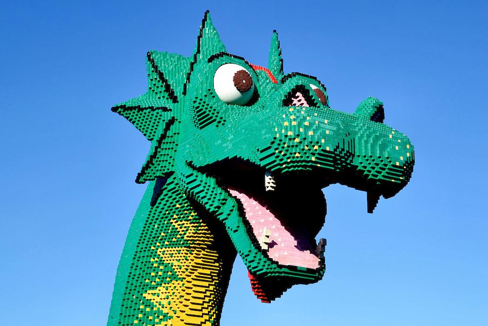Brickley the Lego Sea Serpent in Lake Buena Vista at Disney in ...