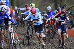 February 3, 2018 - Valkenburg, Pays bas - VALKENBURG, THE NETHERLANDS - FEBRUARY 3 Bellaert Axelle (BEL) in action during the 2018 UCI Cyclo-Cross World Championships for Women under 23 on February 03, 2018 (Credit Image: © Panoramic via ZUMA Press)