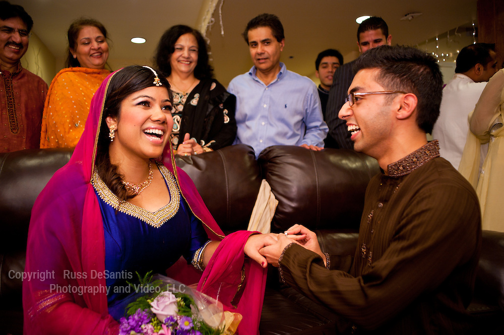 An engagement ceremony in Piscataway, NJ. / Photo by Russ DeSantis Photography and Video, LLC