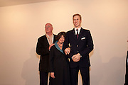 REG GADNEY; FAY MASCHELER; PRINCE WILLIAM WAXWORK, 'Engagement' exhibition of work by Jennifer Rubell. Stephen Friedman Gallery. London. 7 February 2011. -DO NOT ARCHIVE-© Copyright Photograph by Dafydd Jones. 248 Clapham Rd. London SW9 0PZ. Tel 0207 820 0771. www.dafjones.com.