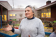 Brenda Knoblock has helped to install a school garden through her work at the Salem-Keizer Foundation Education.