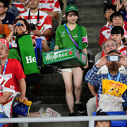 A beer seller during the Rugby World Cup match between Japan and Scotland at International Stadium Yokohama on October 13, 2019 in Yokohama, Japan. (Photo by Dave Winter/Icon Sport) - --- - International Stadium Yokohama - Yokohama (Japon)