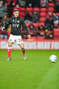 Charlton Athletic midfielder Josh Cullen (24) warms up prior to the EFL Sky Bet Championship match between Charlton Athletic and Blackburn Rovers at The Valley, London, England on 15 February 2020.