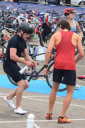 Zac Efron in a tight cycling gear competes in triathalon. 17 Sep 2017 Pictured: Zac Efron. Photo credit: MEGA TheMegaAgency.com +1 888 505 6342