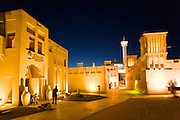 Bur Dubai. Bastakia Old Quarter. Bastakiah Nights restaurant (l.)