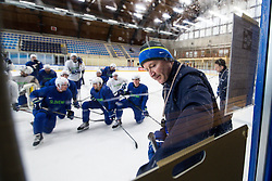 Assistant coach Nik Zupancic at first practice of Slovenian National Ice Hockey team before IIHF Ice Hockey World Championship Division I Group A in Budapest, on April 17, 2018 in Ledena dvorana, Bled, Slovenia. Slovenia. Photo by Matic Klansek Velej / Sportida