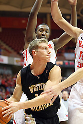 08 December 2012: Brandon Pokley is blocked in by John Wilkins during an NCAA mens basketball game between the Western Michigan Broncos and the Illinois State Redbirds (Missouri Valley Conference) in Redbird Arena, Normal IL