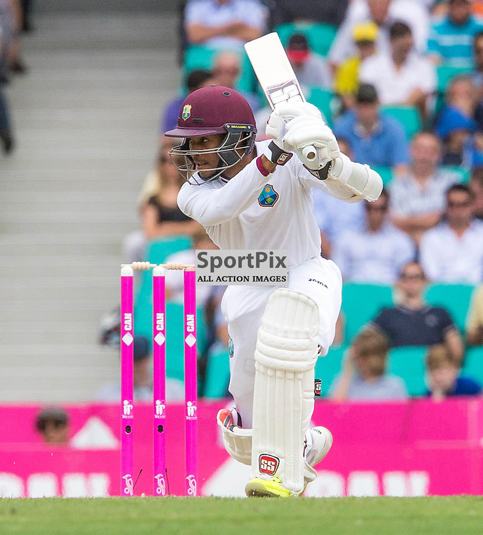3rd Test Match 2015-16 Day 1, Australia v West Indies, Sydney Cricket Ground; 3 January 2016<br /> West Indian Shai Hope hits a drive for 3 off the bowling of Australian James Pattinson