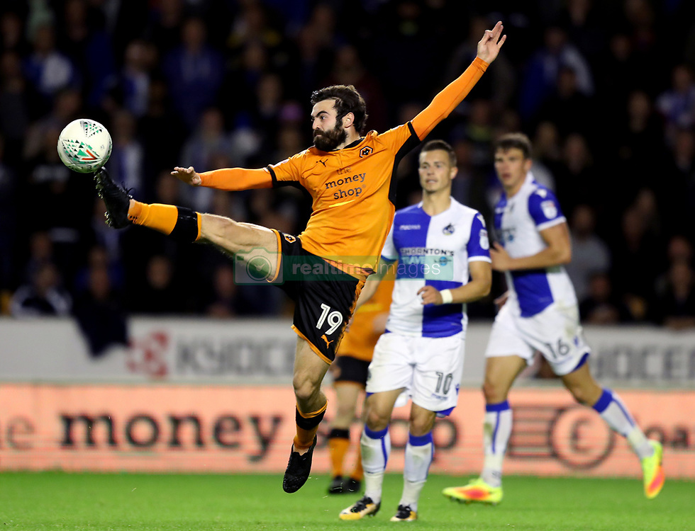 Wolverhampton Wanderers' Jack Price stretches for the ball in the air