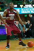 WACO, TX - NOVEMBER 12: Duane Notice #10 of the South Carolina Gamecocks brings the ball up court against the Baylor Bears on November 12, 2013 at the Ferrell Center in Waco, Texas.  (Photo by Cooper Neill/Getty Images) *** Local Caption *** Duane Notice