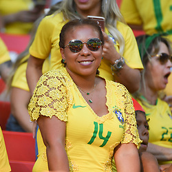 Isabele da Silva wife of Thiago Silva during the FIFA World Cup Group E match between Serbia and Brazil on June 27, 2018 in Moscow, Russia. (Photo by Anthony Dibon/Icon Sport)