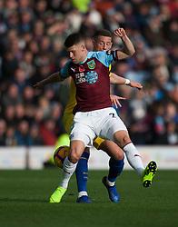 Johann Gudmundsson of Burnley (L) and Ross Barkley of Chelsea in action - Mandatory by-line: Jack Phillips/JMP - 28/10/2018 - FOOTBALL - Turf Moor - Burnley, England - Burnley v Chelsea - English Premier League