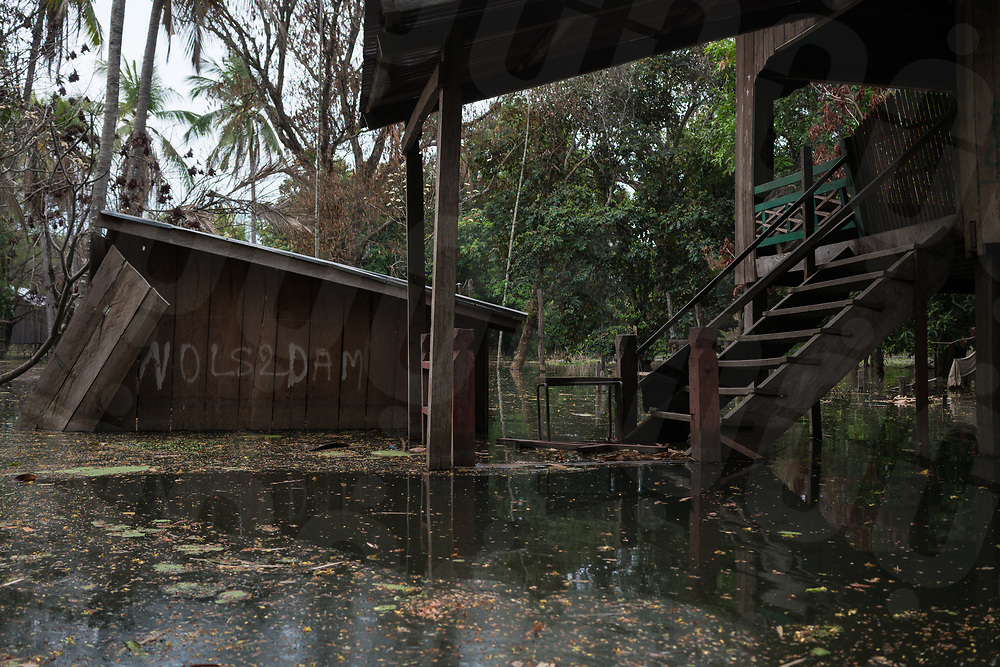 April 25, 2018 - Stung Treng (Cambodia). View of the village of Kbal Romeas now flooded due the rise of the Sesan river's water after the gates of the Lower Sesan 2 dam were finally closed in October 2017. © Thomas Cristofoletti / Ruom