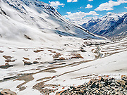 Photo of Baralacha La, a mountain pass at 16,040ft on Zanskar range connecting Lahaul district in Himachal Pradesh with Ladakh in Jammu and Kashmir.