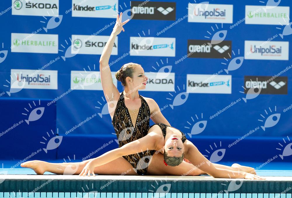PLEBISCITO PADOVA<br /> Ballarini Alice<br /> Finco Giada<br /> FIN Campionati Assoluti di Nuoto Sincronizzato<br /> Terni 2015  22 - 24 Maggio<br /> Photo D. Montano/Deepbluemedia/Inside