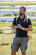 Lucerne, SWITZERLAND, 12th July 2018, Friday  FISA World Cup series, No.3, Lake Rotsee, Lucerne, Swiss Head Coach, Robin DOWELL,