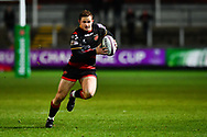 Dragons' Hallam Amos in action during todays match<br /> <br /> Photographer Craig Thomas/Replay Images<br /> <br /> EPCR Champions Cup Round 3 - Newport Gwent Dragons v Newcastle Falcons - Saturday 15th December 2017 - Rodney Parade - Newport<br /> <br /> World Copyright © 2017 Replay Images. All rights reserved. info@replayimages.co.uk - www.replayimages.co.uk
