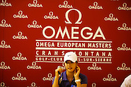 Michelle Wie playing for the first time on the mens European Tour at the press conference after the first round on the 18th hole at the Omega European Masters 2006, Crans Montana, Switzerland, 7th September 2006<br /> Picture Credit: Mark Newcombe / visionsingolf.com