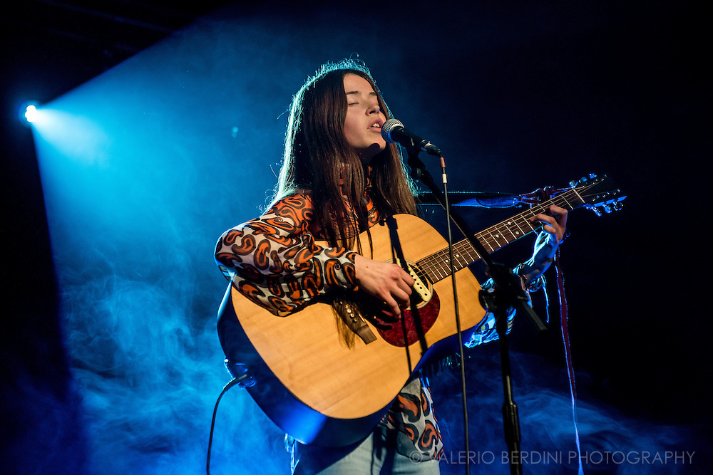 Flo Morrissey opening for The Staves live at the Cambridge Junction on 17 February 2015