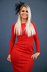 LIVERPOOL, ENGLAND - Thursday, April 6, 2017: Charlotte Roberts, 29 from Blackpool, during The Opening Day on Day One of the Aintree Grand National Festival 2017 at Aintree Racecourse. (Pic by David Rawcliffe/Propaganda)
