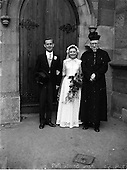 1952 Wedding of Mr. Christopher Dooleyand Miss. Josephine Wotton