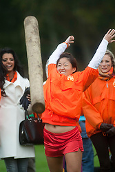 .The Miss World 2011 contestants take part in a highland games in the grounds of Crieff Hydro, Perthshire..MISS WORLD 2011 VISITS SCOTLAND..Pic © Michael Schofield.