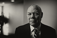 General Colin Powell, US Secretary of State (2001-2005), National Security Adviser (1987-1989) and Chairman of the Joint Chiefs of Staff (1989–1993), photographed in his Alexandria, Virginia office on October 7th, 2014. Photograph by © Roger M. Richards.