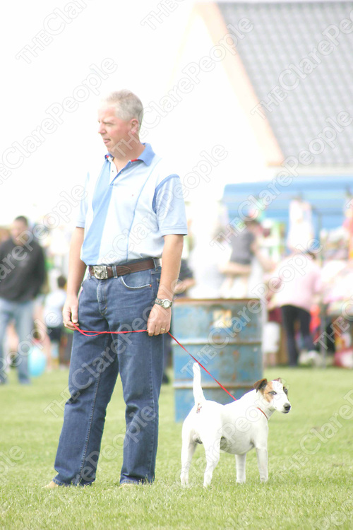 Aidan O'Leary with his dog Shilo at the Mullagh Show on Sunday. Pic. Brian Arthur/Press 22.