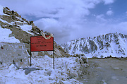 Khardung - The highest motorable road in the world 18380 feet above sea level - Ladakh 2006