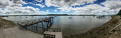 Castine Harbor from Doc's Dock, Castine, Maine, US