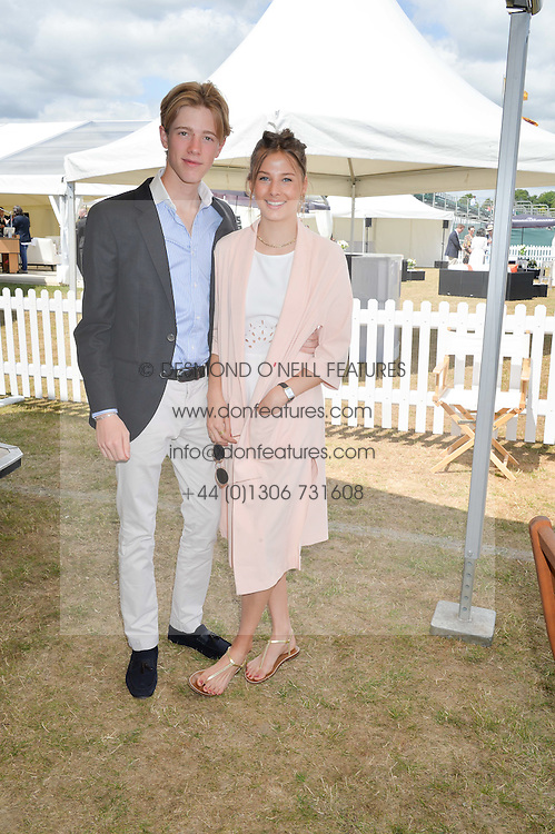 COLUMBUS O'DONNELL and ISLAY STOPFORD SACKVILLE at the Jaeger-LeCoultre Gold Cup Polo Final held at Cowdray Park Polo Club, Midhurst, West Sussex on 19th July 2015
