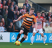 Barnet striker Michael Gash looks for an opening during the Sky Bet League 2 match between Barnet and Exeter City at The Hive Stadium, London, England on 31 October 2015. Photo by Bennett Dean.