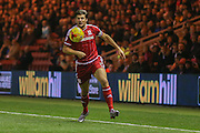 Middlesbrough defender George Friend  during the Sky Bet Championship match between Middlesbrough and Burnley at the Riverside Stadium, Middlesbrough, England on 15 December 2015. Photo by Simon Davies.