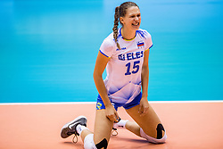 23-08-2017 NED: World Qualifications Greece - Slovenia, Rotterdam<br /> Sloveni&euml; wint met 3-0 / Ela Pintar #15 of Slovenia