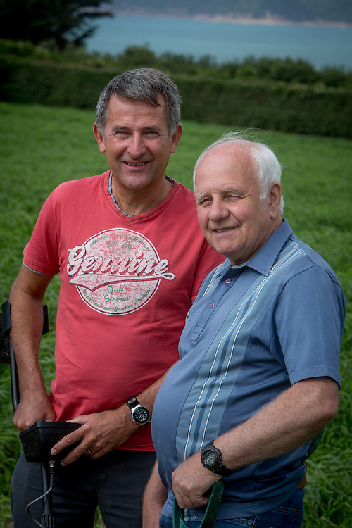 Reg Mead and Richard Miles in the east of Jersey.