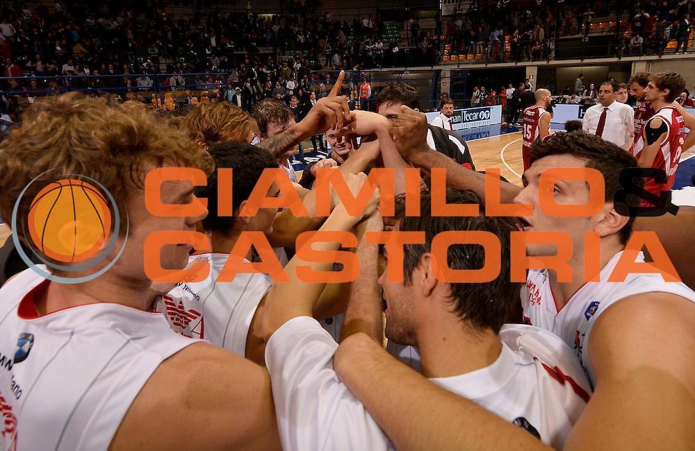 DESCRIZIONE : Desio campionato serie A 2013/14 EA7 Olimpia Milano Giorgio Tesi Group Piastoia <br /> GIOCATORE : team milano<br /> CATEGORIA : esultanza<br /> SQUADRA : EA7 Olimpia Milano<br /> EVENTO : Campionato serie A 2013/14<br /> GARA : EA7 Olimpia Milano Giorgio Tesi Group Piastoia<br /> DATA : 04/11/2013<br /> SPORT : Pallacanestro <br /> AUTORE : Agenzia Ciamillo-Castoria/R. Morgano<br /> Galleria : Lega Basket A 2013-2014  <br /> Fotonotizia : Desio campionato serie A 2013/14 EA7 Olimpia Milano Giorgio Tesi Group Piastoia<br /> Predefinita :